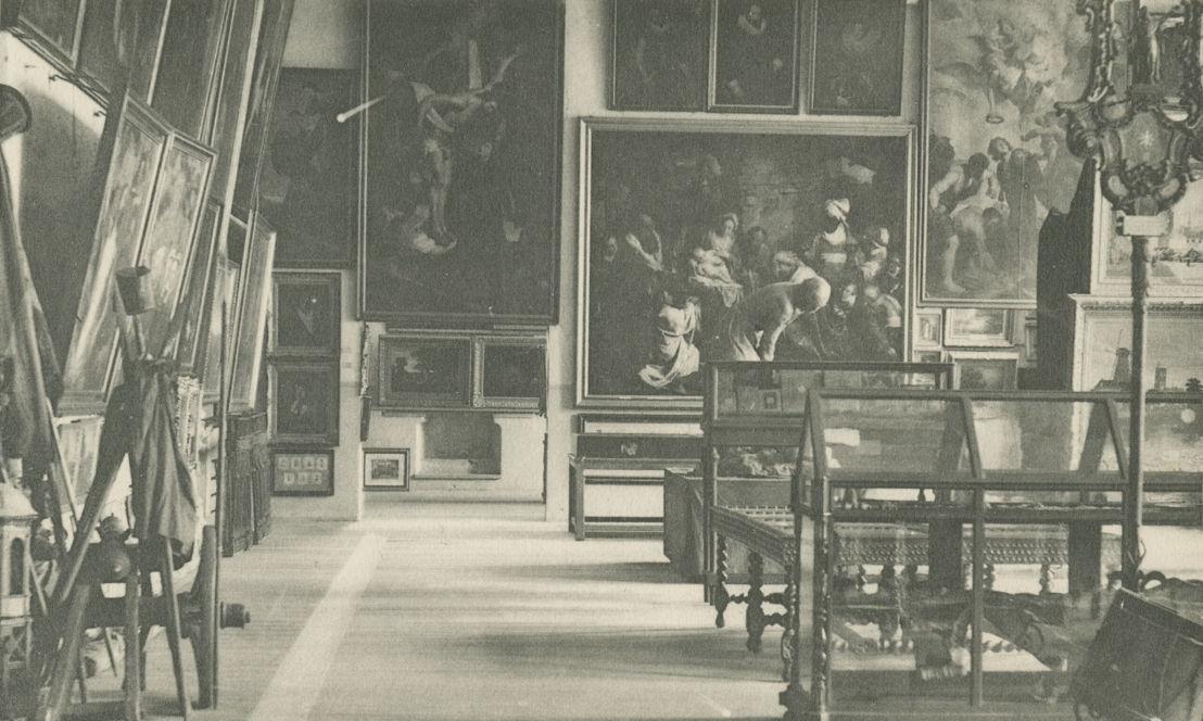 Het oude museum van het stadhuis, Leuven, 19de eeuw © M - Museum Leuven