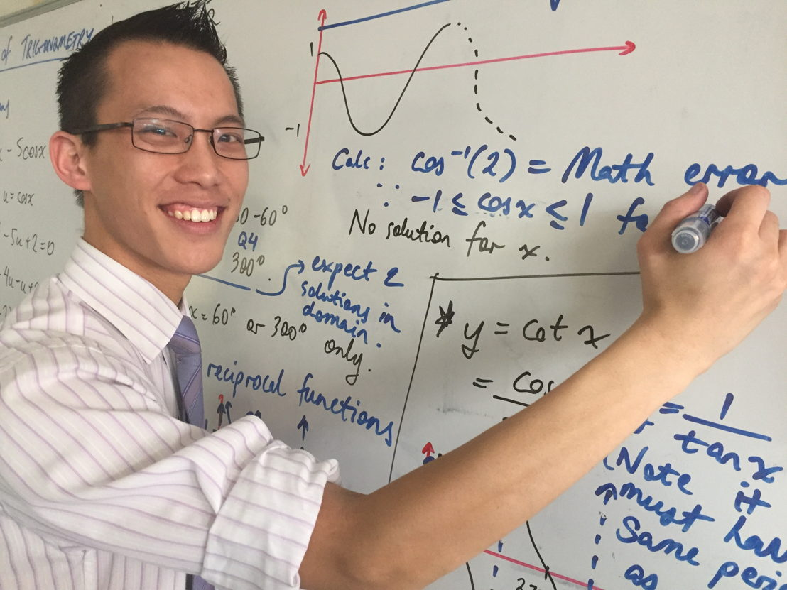 Eddie Woo, Head of Mathematics at Cherrybrook Technology High School Sydney, photo: Rebecca Baillie, Australian Story