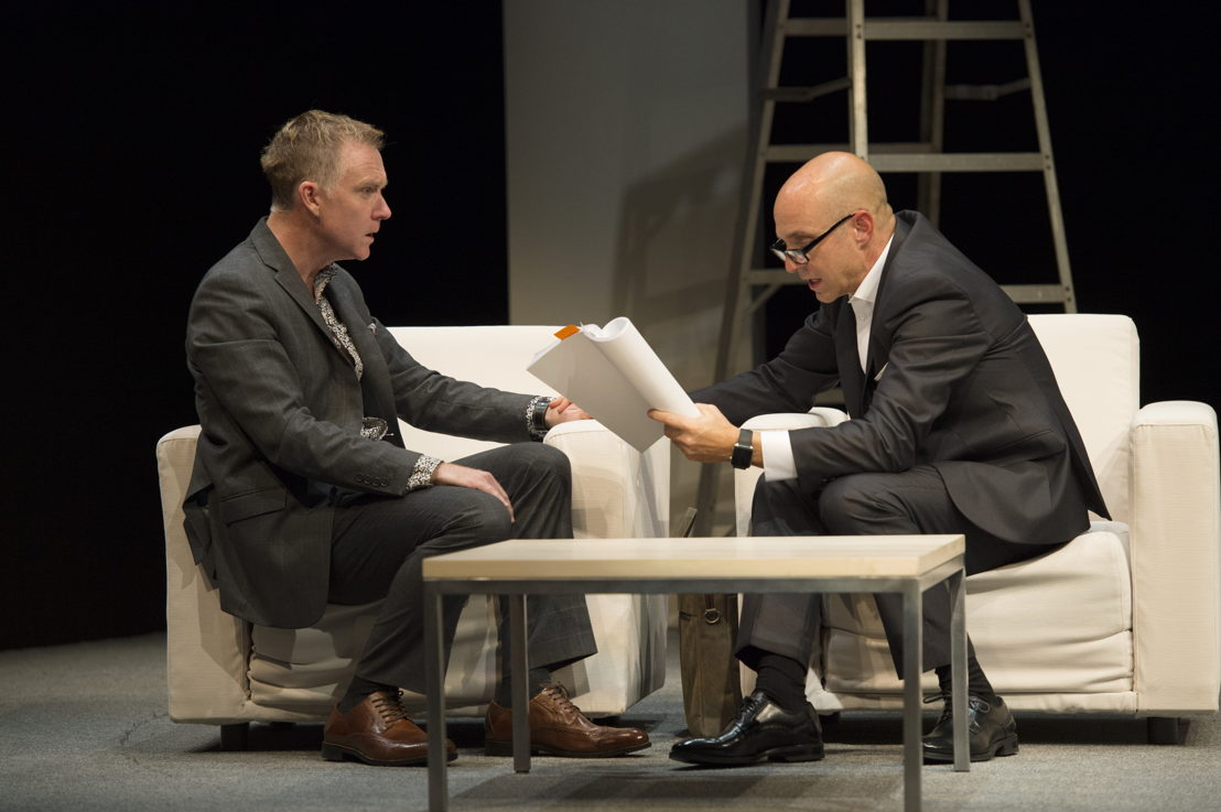 Vincent Gale and Brian Markinson in Speed-the-Plow / Photos by David Cooper