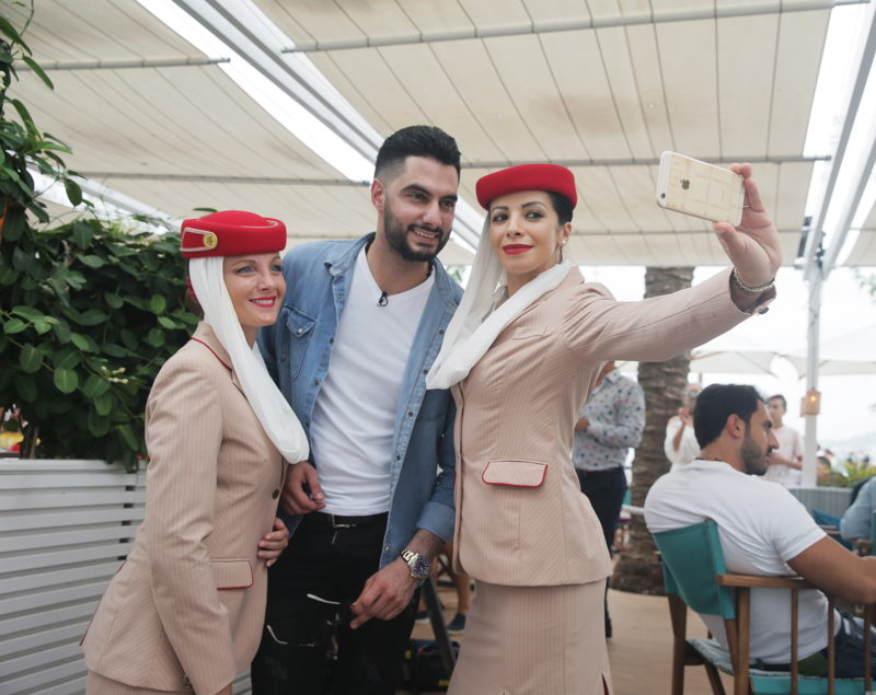 Emirates Cabin Crew joins Yacoub Shaheen at the 2017 Stars on Board musical cruise event