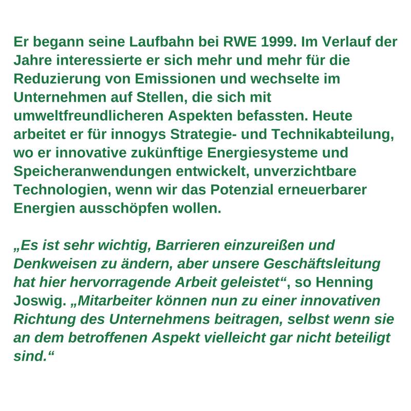 Arbeitnehmerprofil für grüne Arbeitsplätze  -<br/> Henning Joswig