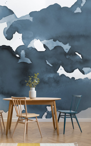Murals for Mindfulness: Subconscious Watercolour Wallpaper