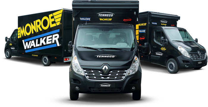 Preview: Φορτηγό της Tenneco πραγματοποίησε επισκέψεις σε συνεργεία στην Ελλάδα.