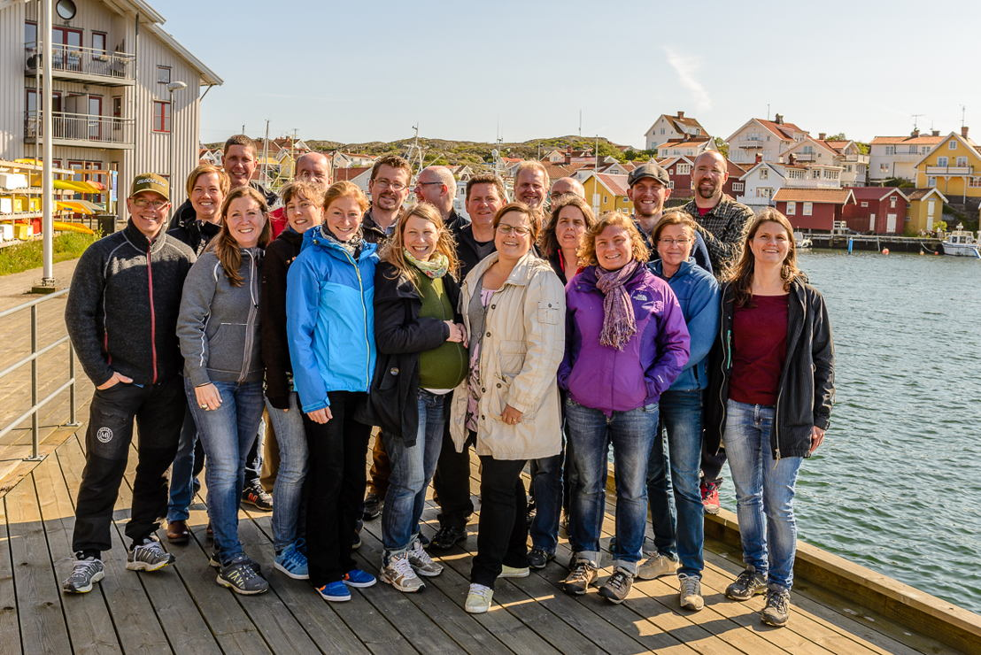 A photo of parts of Medins staff. Almost all of them biologists. © Medins Havs och Vattenkonsulter AB, 2016