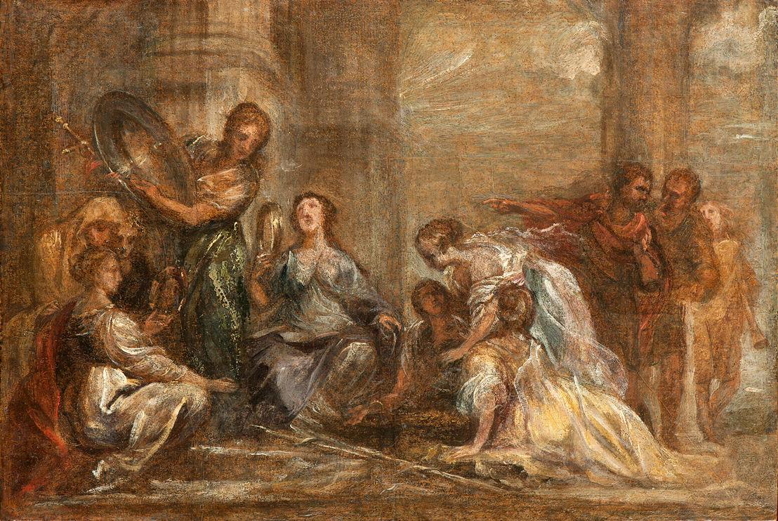 Jan Boeckhorst. Achilles en de dochters van Lycomedes.