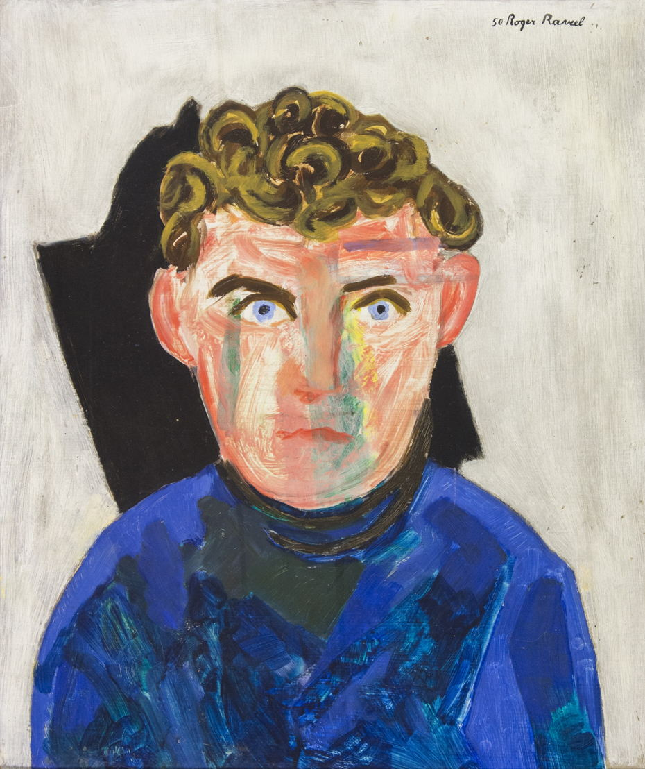 Roger Raveel: portret van Hugo Claus (1950)