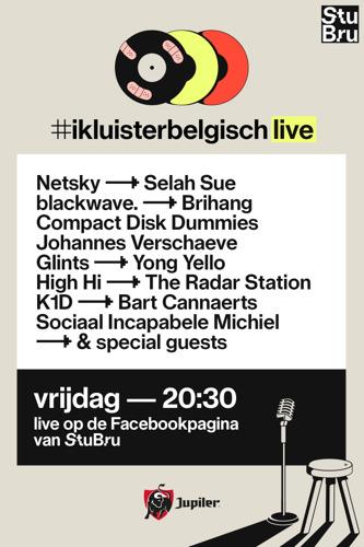 Studio Brussel organiseert eerste online concertavond met meer dan 15 Belgische artiesten