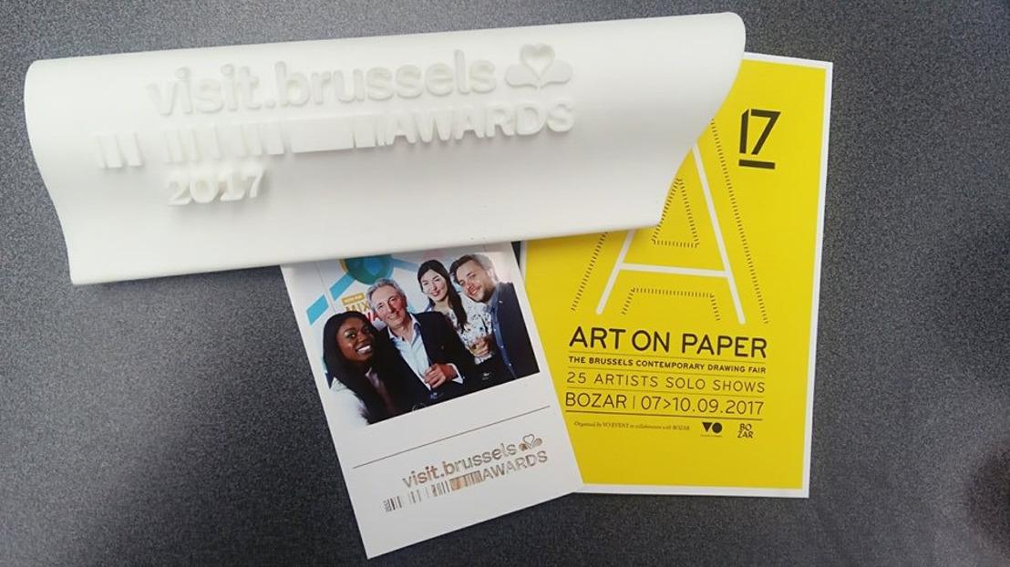 Art on Paper (VO-Event) in de prijzen op de visit.brussels Awards!