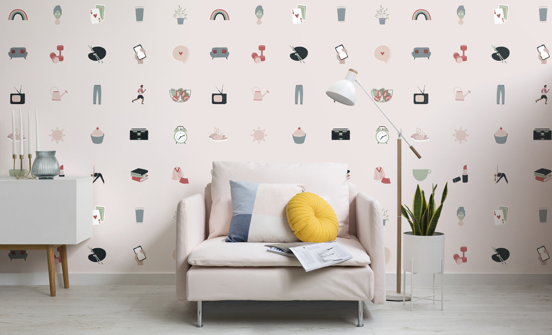Surround yourself in self-care with new wellness-inspired wallpaper