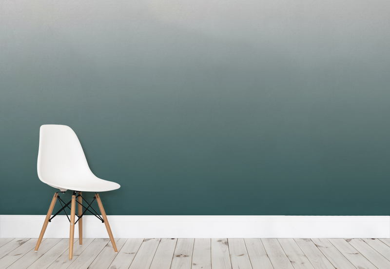 Forest Green Ombre Wall Mural