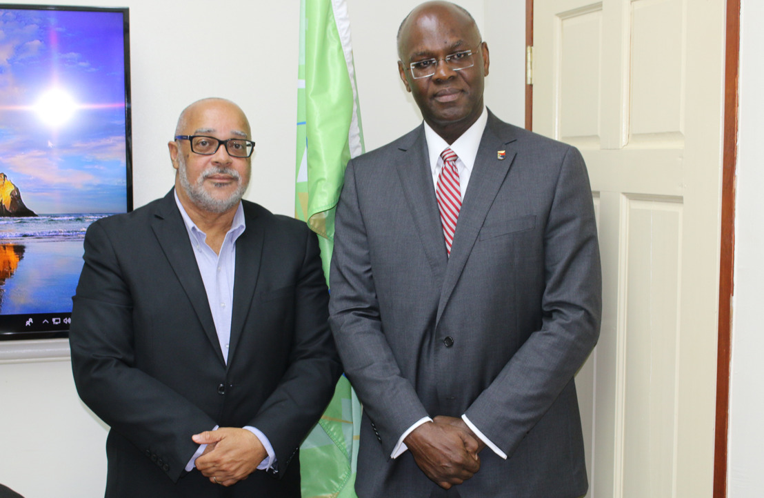 Governor of Sint Maarten pays courtesy visit to OECS Director General