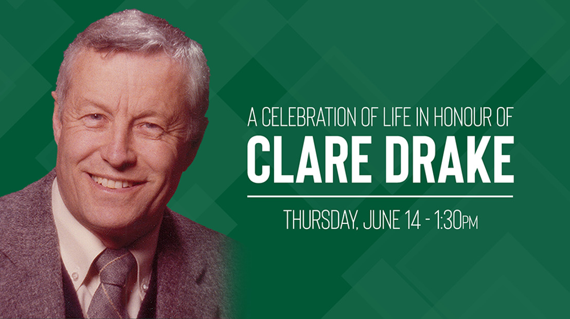Clare Drake celebration of life to be webcast on Canada West TV