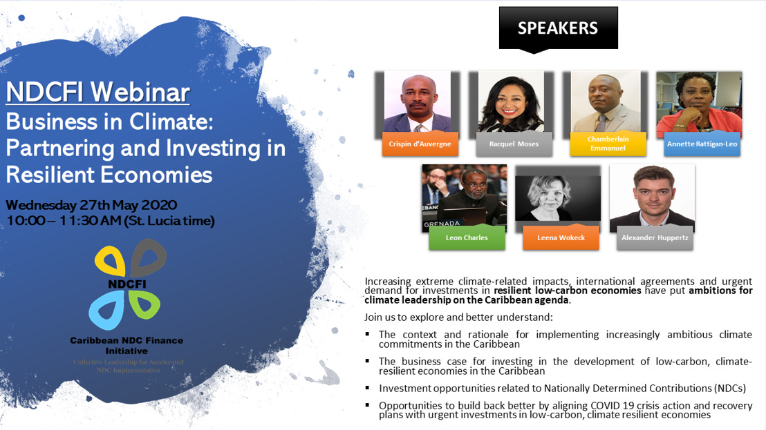 Webinar on Business in Climate: Partnering and Investing in Resilient Economies