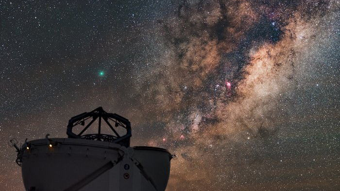 An auxiliary telescope at ESO's Very Large Telescope in Chile. Image: ESO.