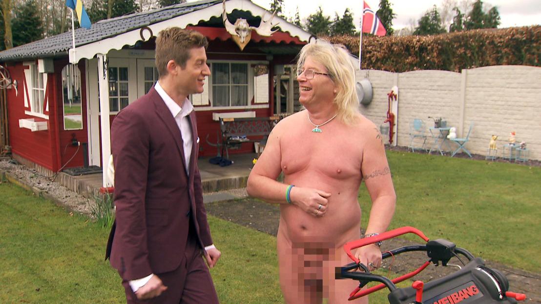 Jani zkt kleren voor naturist Rudi
