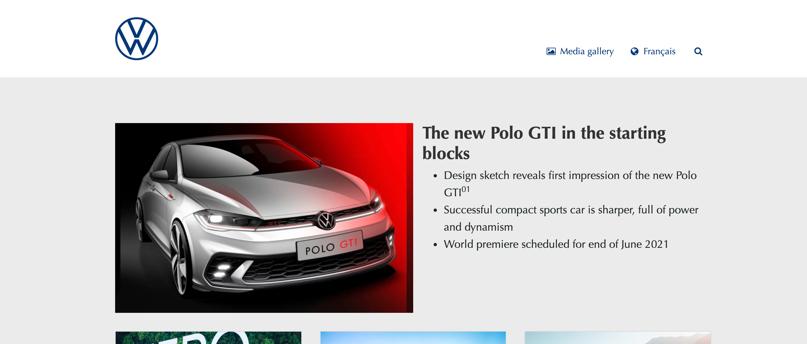 Volkswagen's news hub