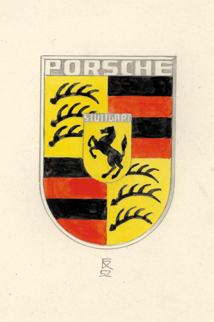 1954. El logotipo de Porsche ha adornado el capó de todos los vehículos de la marca desde 1954