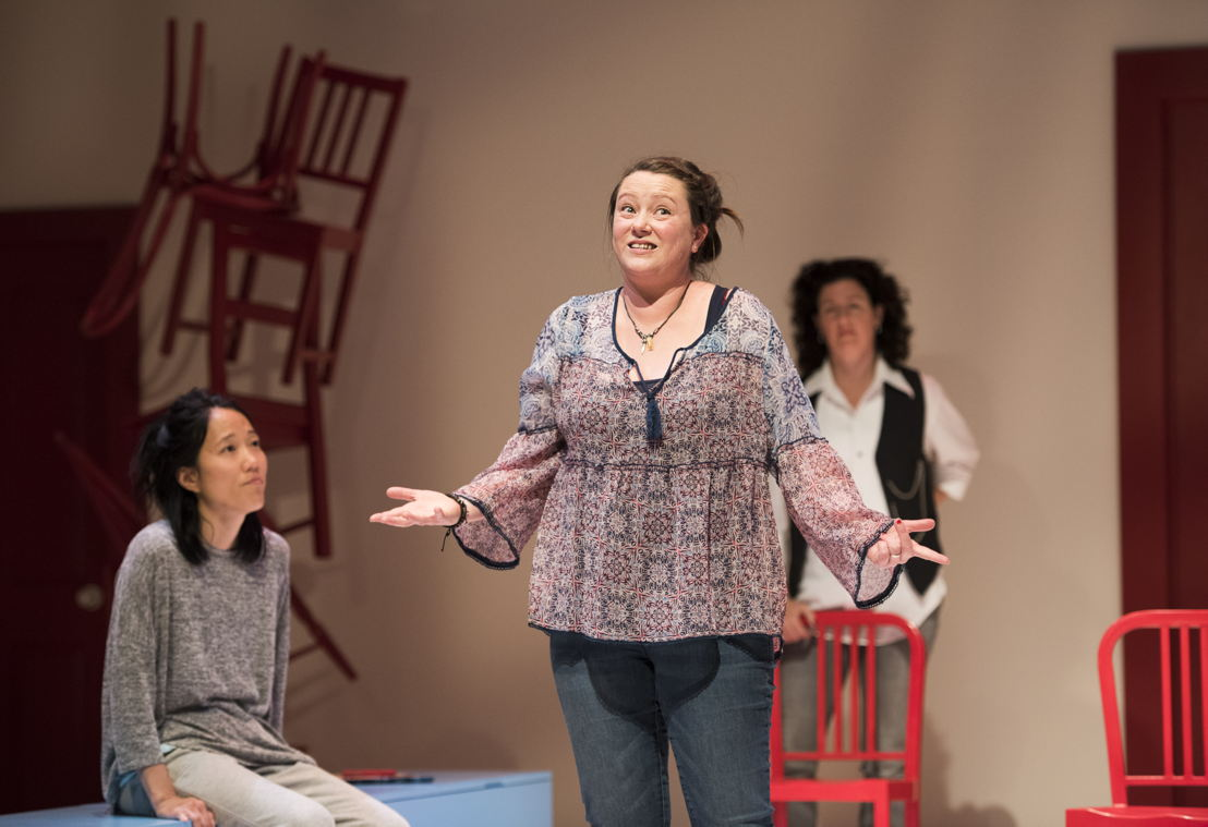 Yumi Ogawa, Jennifer Paterson, and Sarah Donald star in Mom's the Word / Photos by Emily Cooper