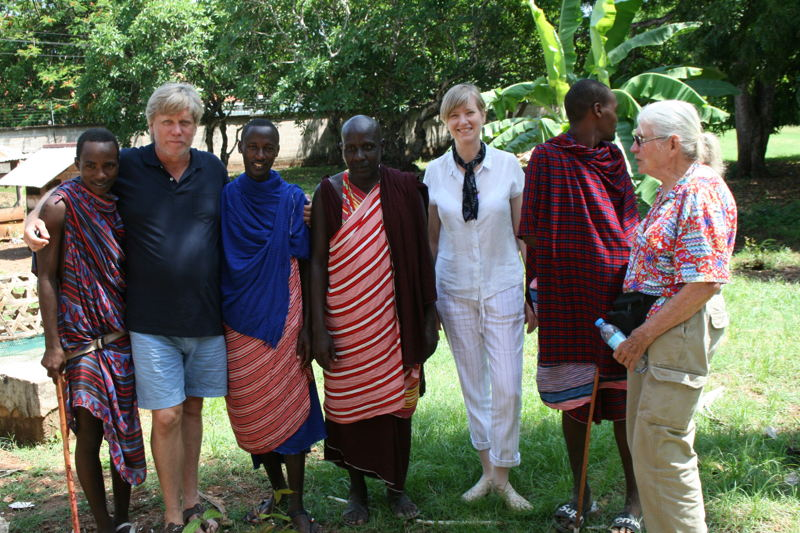 Australian Story<br/>The Richardsons at their former house in Dar es Salaam.