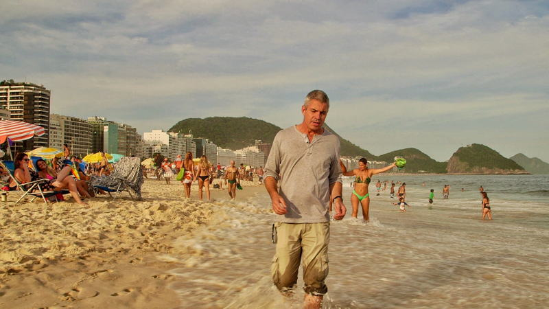 Ben Knight on Copacobana Beach, Rio, Brazil