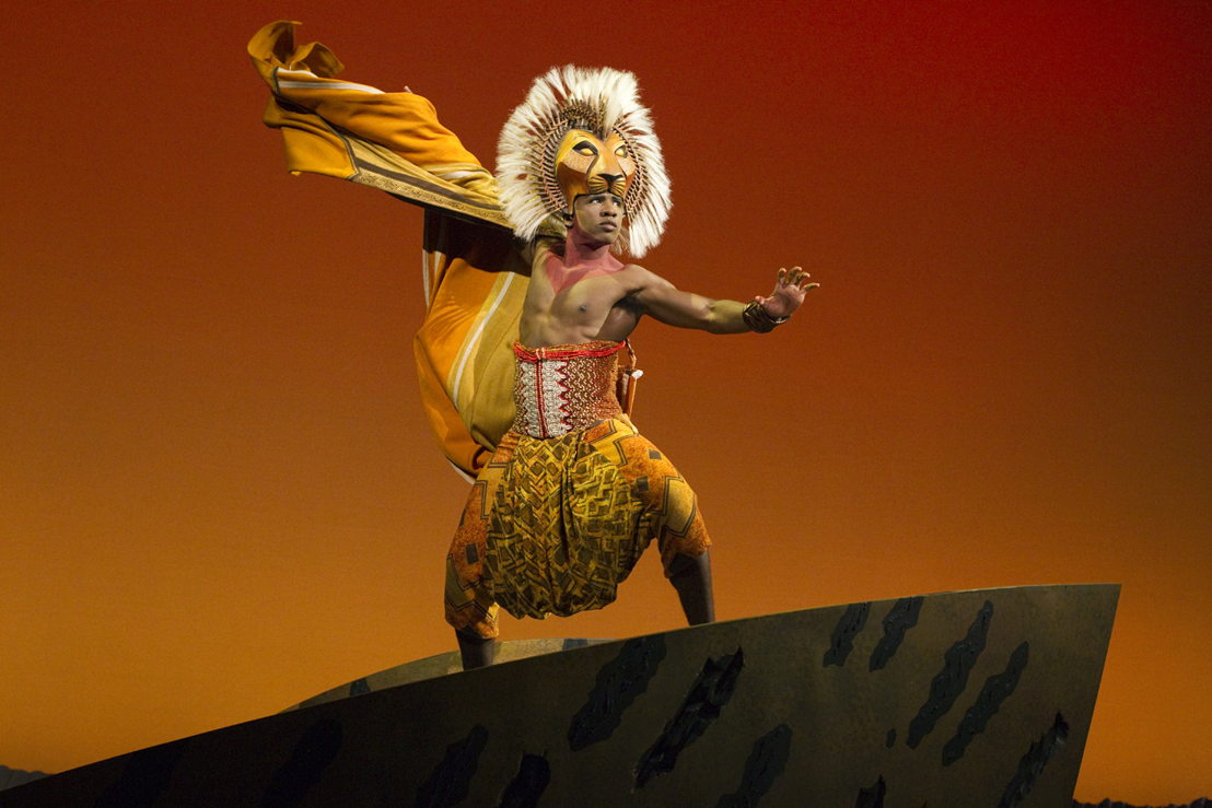 "Dashaun Young as ""Simba"" in THE LION KING North American Tour. ©Disney.  Photo by Joan Marcus."