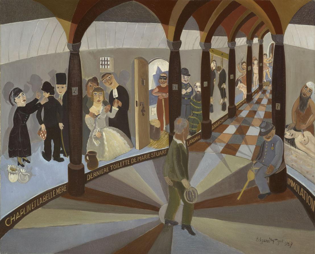 Edgard Tytgat, Tytgat et les figures de cire, 1927<br/>©Ville de Grenoble/ Musée de Grenoble – J.L. Lacroix<br/>(c) SABAM Belgium 2017