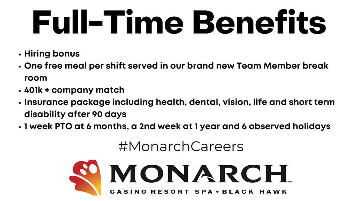 Monarch Casino Resort Spa Team Member Benefits Package