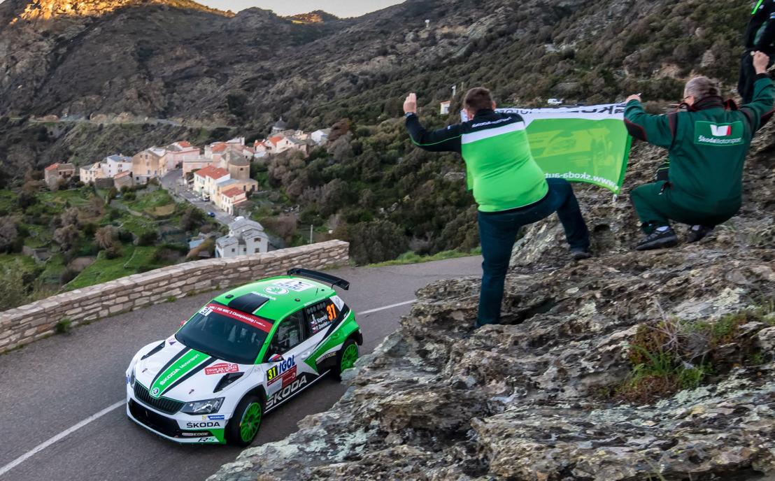 Jan Kopecký and ŠKODA continue to dominate WRC 2 category at Rally France/Tour de Corse