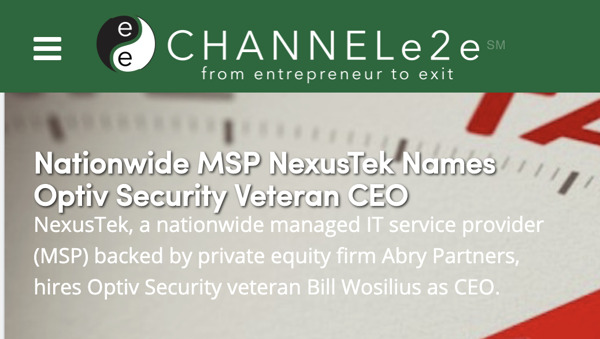Preview: Nationwide MSP NexusTek Names Optiv Security Veteran CEO