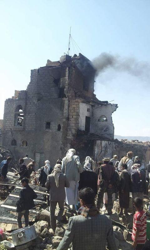 Aftermath of wedding airstrike