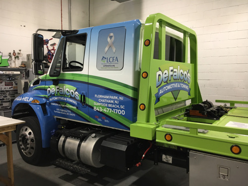 UPDATED WITH PHOTOS: Surfside Beach company DeFalco's Automotive & Towing using tow trucks to raise awareness and funds for lung cancer research
