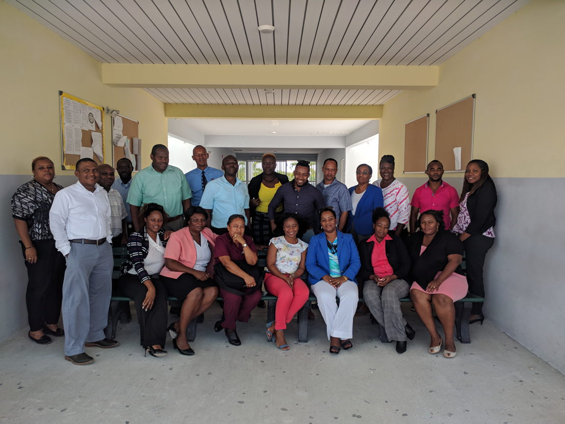 Educators and the CXC NotesMaster implementation team in the Turks and Caicos Islands.