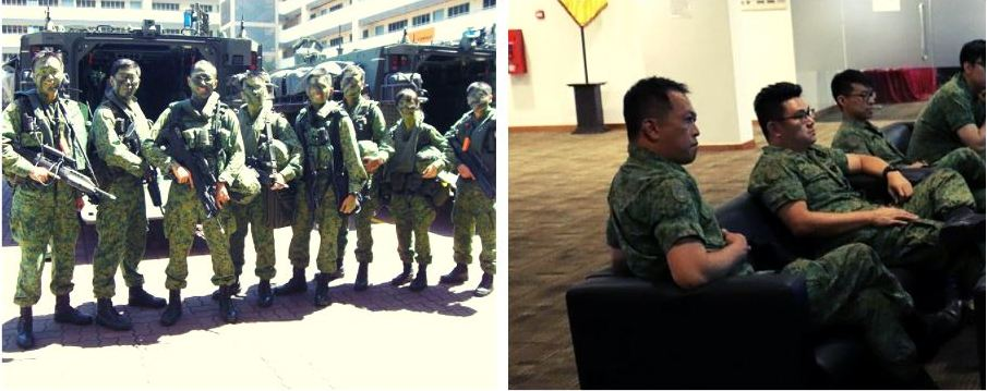 Roy Lim with his comrades in the Singapore Armed Forces (SAF).