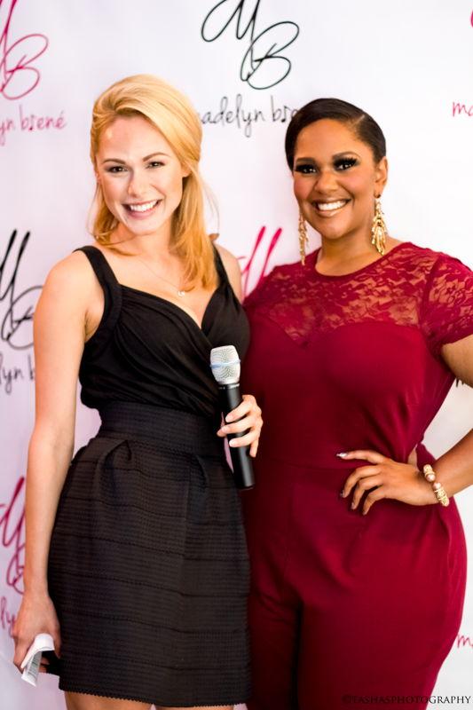 Madelyn Brené with Hostess Misty Romano (Photo Credits: Tasha Wright)