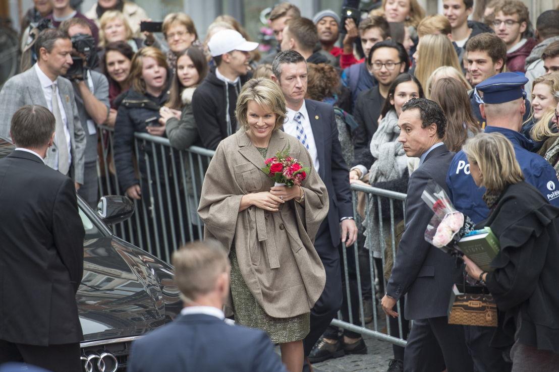 Koningin Mathilde bezoekt &#039;Op zoek naar Utopia&#039; in M-Museum Leuven<br/>(c) Rudi Van Beek