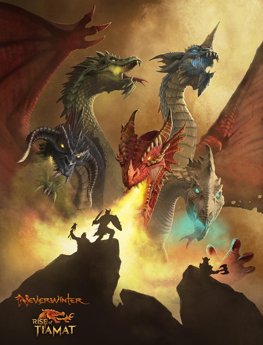 Neverwinter: Rise of Tiamat - Key Art