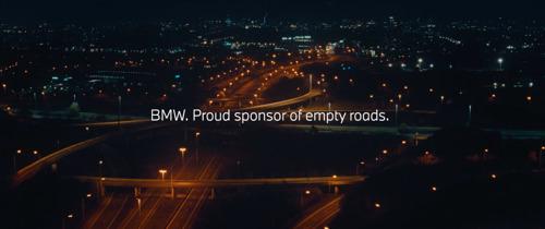 BMW en TBWA, proud sponsors of empty roads