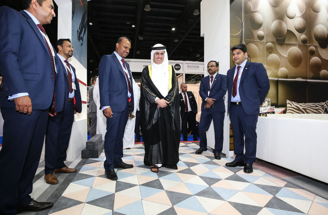 H.E. Saeed Mohammed Al Tayer, MD and CEO of DEWA, inaugurating FM EXPO, The Big 5 Outdoor Design & Build Show, Windows, Doors & Facades Event, and FM EXPO 2017