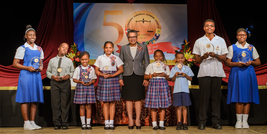 caribbean supreme court hosts th anniversary essay poster  eastern caribbean supreme court hosts 50th anniversary essay poster competition award ceremony