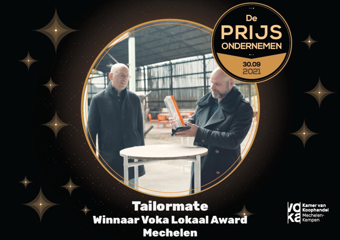 Tailormate is derde kanshebber op Voka Prijs Ondernemen 2021