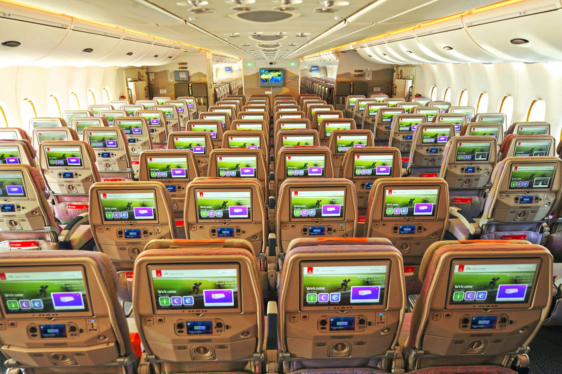 133 Inch Economy Class Screens On Newly Delivered Two A380