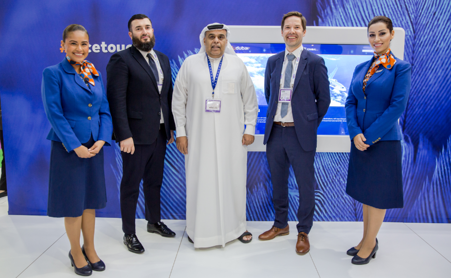 From Left to Right- Jeyhun Efendi, Senior Vice President Commercial Operations at flydubai,Hamad Obaidalla, Chief Commercial Officer of flydubai, Teemu Ahola, Account Manager - Asia & Middle East at Visit Finland