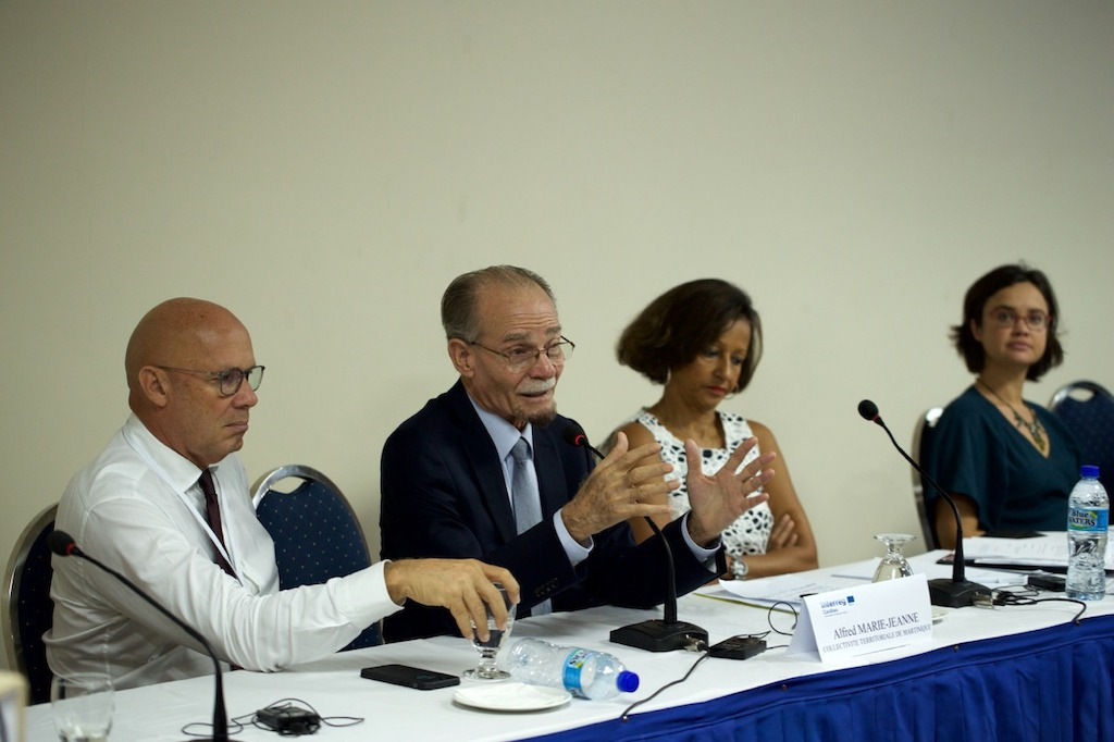 President of Territorial Authority of Martinique Alfred Marie-Jeanne delivering welcome remarks for the launch of Interreg Caraïbes Programme in 2016
