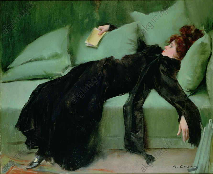 &#039;After the ball&#039; by Ramon Casas, 1895<br/>AKG5834152