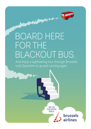 Brussels Airlines' Blackout Bus treats stranded passengers to an unexpected sightseeing tour