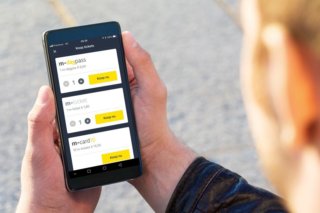 Digitale vervoerbewijzen in de app van De Lijn: m-ticket, m-card10 en m-daypass