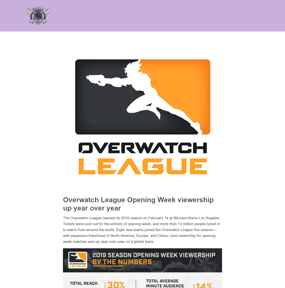 Overwatch League Opening Week viewership up year over year