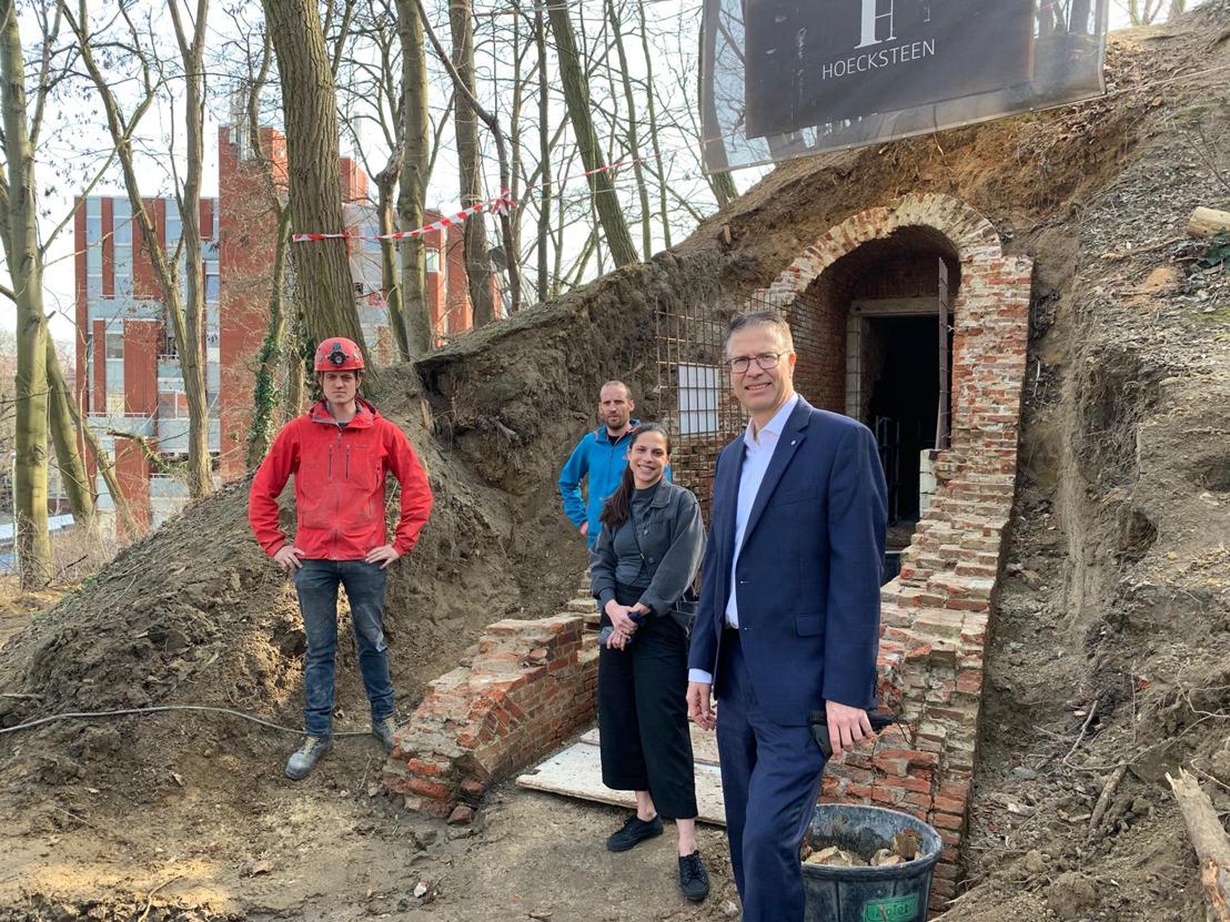 Start restauratie Ijskelder aan Brusselse Poort in Leuven