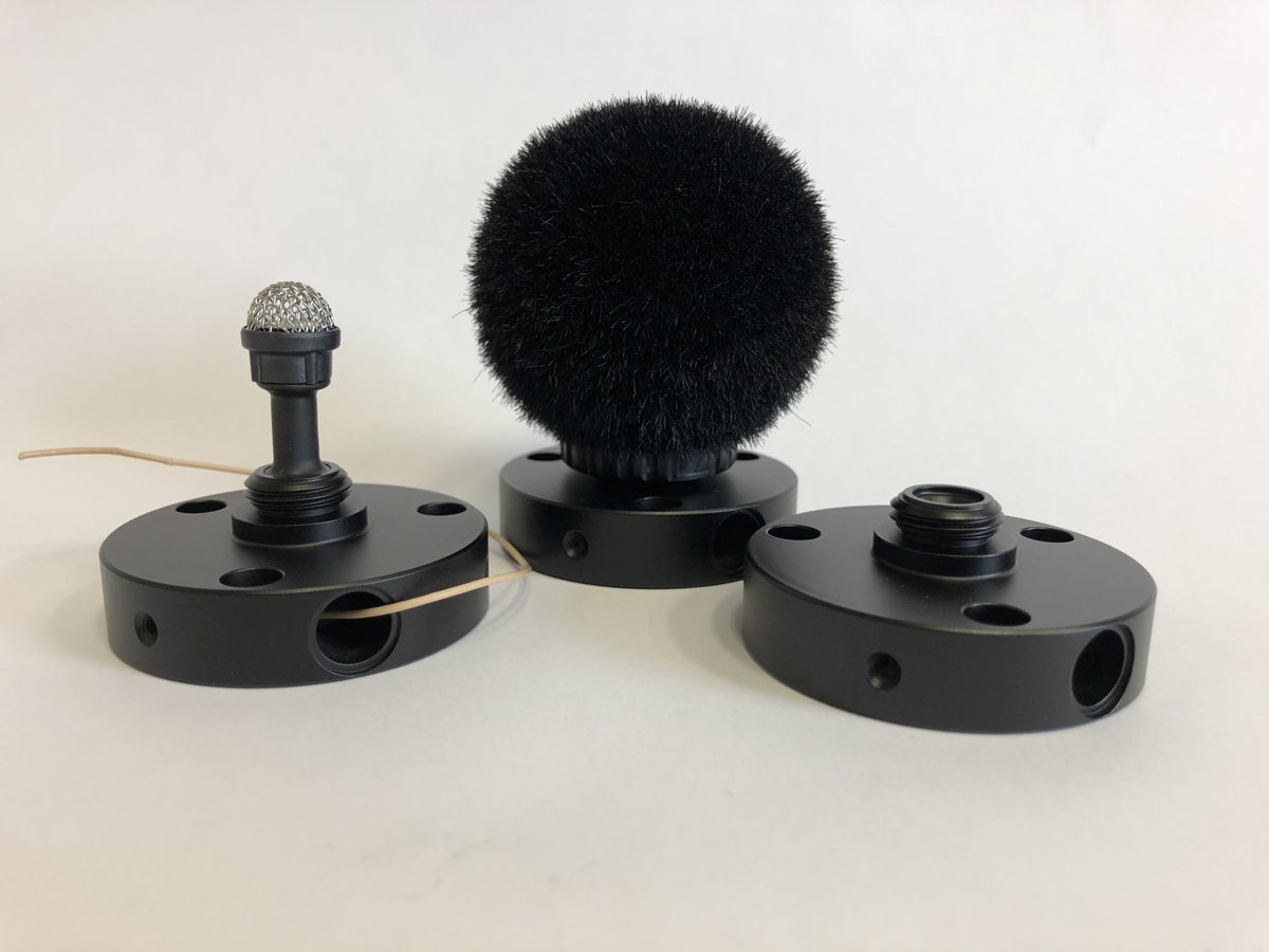 Prototypes of the water-proof mic with a mount option