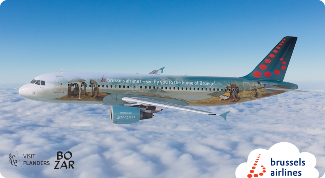 Brussels Airlines reveals Bruegel, a 6th Belgian Icon in honor of the famous Renaissance painter